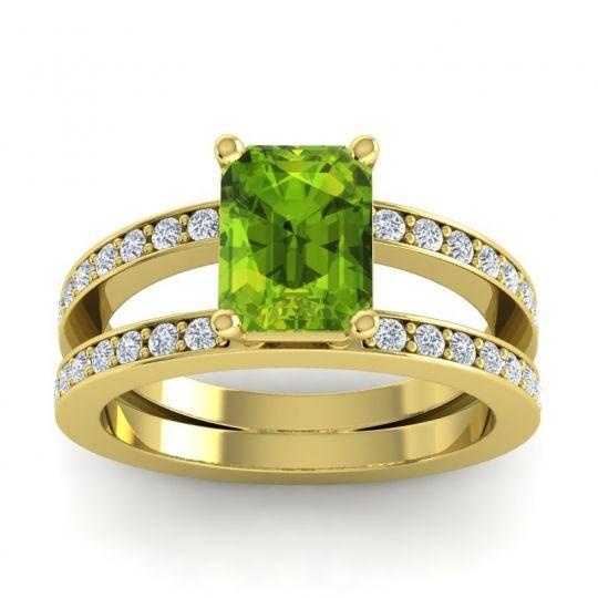 0.45Ct Marqurse Cut Green Emerald Half Eternity Band 14K Yellow  Gold Finish