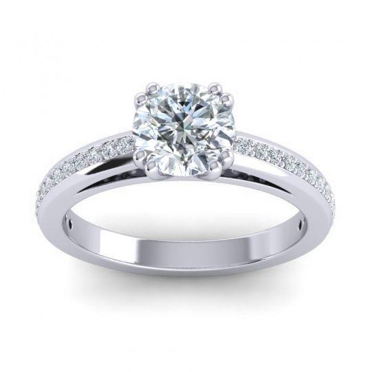 Classic Pave Zarya Diamond Ring in 14k White Gold