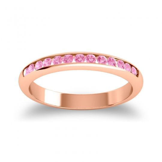 Half Eternity Ceda Pink Tourmaline Band in 18K Rose Gold