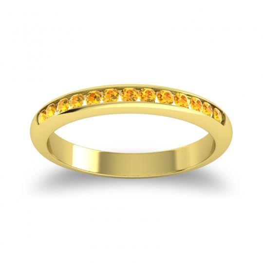 Half Eternity Ceda Citrine Band in 14k Yellow Gold