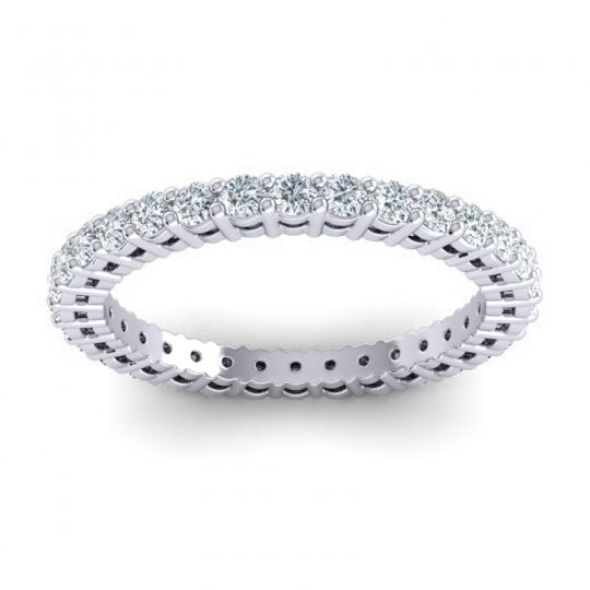 Eternity Suna Diamond Band in 14k White Gold