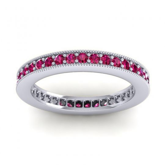 Ruby Eternity Zani Band in Palladium