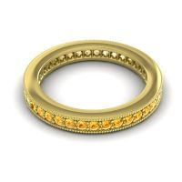 Citrine Eternity Zani Band in 14k Yellow Gold