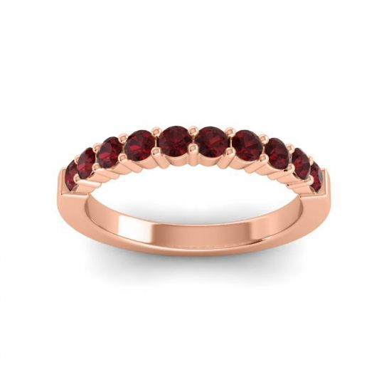 Garnet Classic Ardha Band in 18K Rose Gold