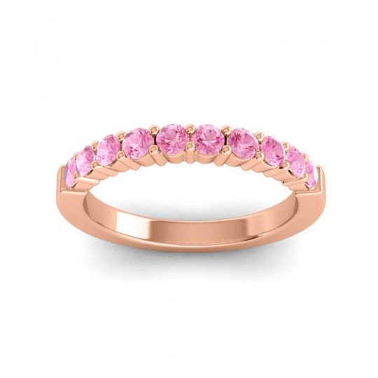 Pink Tourmaline Classic Ardha Band in 18K Rose Gold