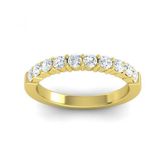 Diamond Classic Ardha Band in 14k Yellow Gold