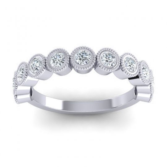 Diamond Half Eternity Rajati Band in 14k White Gold