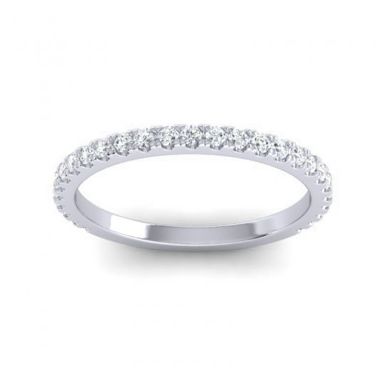 Three Quarter Eternity Ahava Diamond Band in 14k White Gold