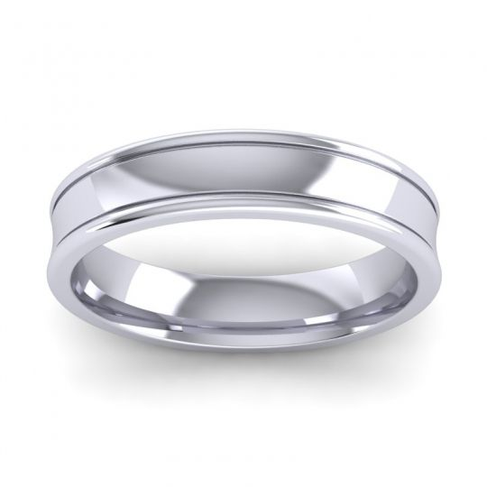 Polished Aksa Band in 14k White Gold