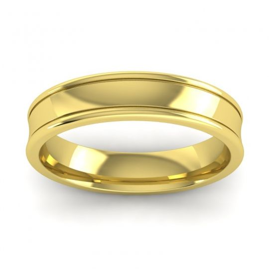 Polished Aksa Band in 18k Yellow Gold