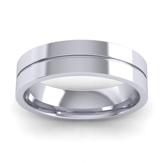 Polished Zalaka Band in Platinum
