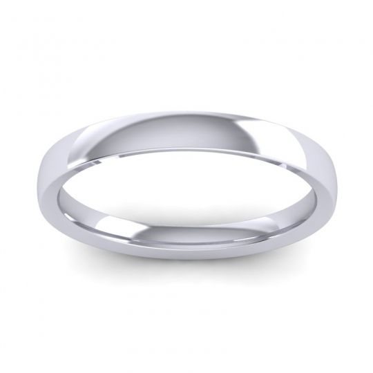 Polished Tanu Band in 14k White Gold