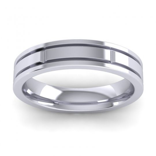 Polished Lepaka Band in 14k White Gold