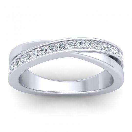 Diamond Half Eternity Kilita Band in 14k White Gold