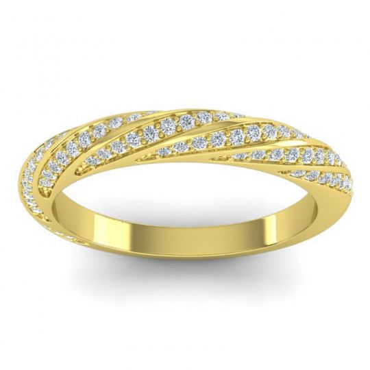 Diamond Half Eternity Urmika Band in 18k Yellow Gold