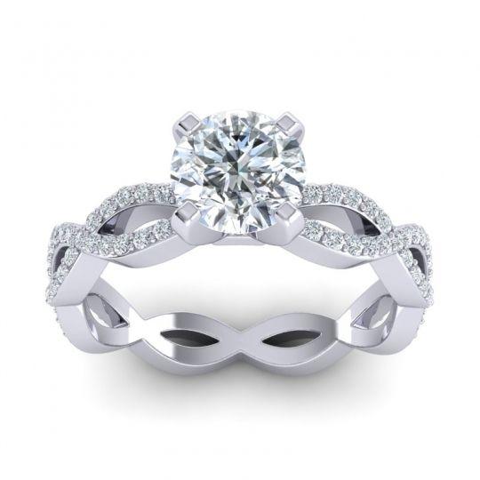 Modern Pave Draksa Diamond Ring in 18k White Gold