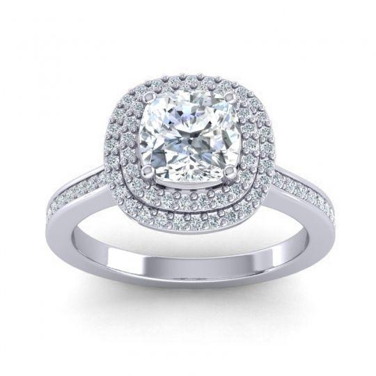 Halo Cushion Arohana Ring