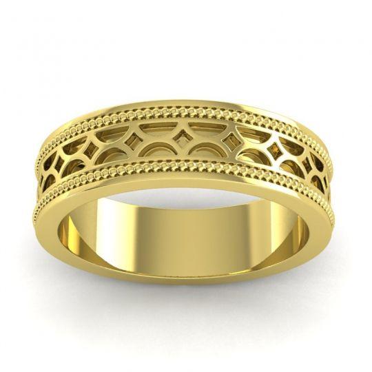 Polished Milgrain Dvara Ring in 18k Yellow Gold