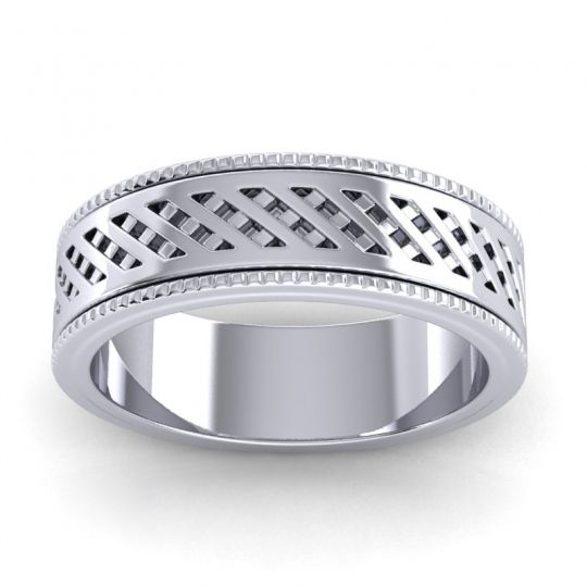 Polished Zala Band in Platinum