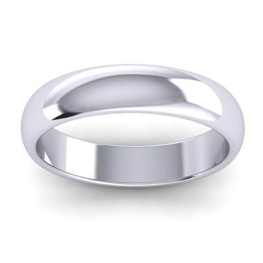 Polished Baliza Ring in 14k White Gold