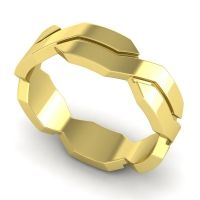 Polished Kila Band in 14k Yellow Gold