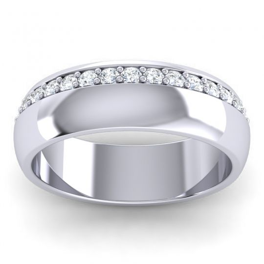 Diamond Polished Aratta Band in 14k White Gold