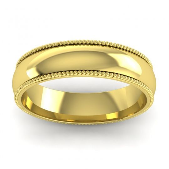 Polished Kalapa Band in 14k Yellow Gold