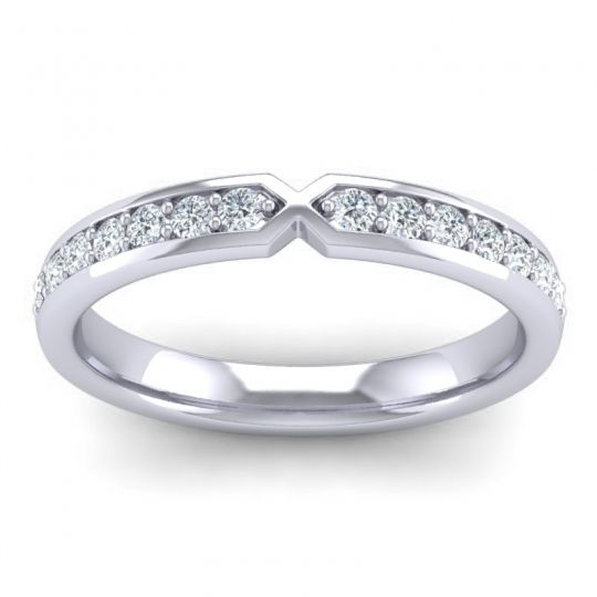 Half Eternity Atani Diamond Band in 18k White Gold