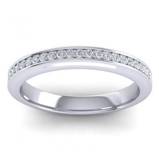 Eternity Saksa Diamond Band in 14k White Gold