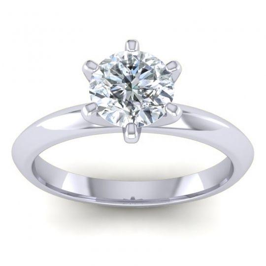 Diamond Solitaire Churi Ring in Platinum