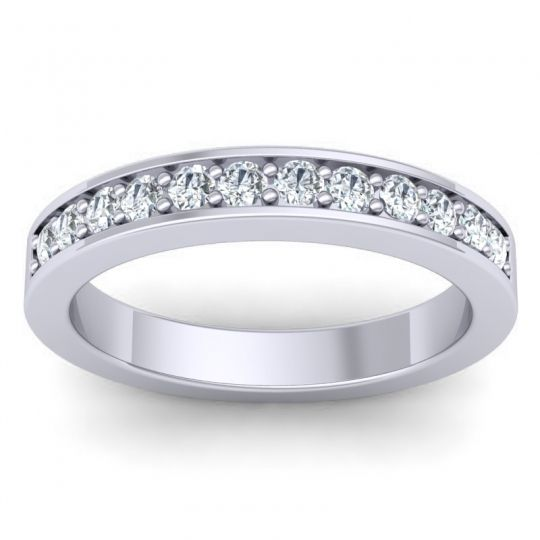 Diamond Half Eternity Kuhara Band in 14k White Gold
