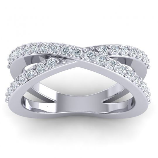 Diamond Modern Milana Band in 14k White Gold