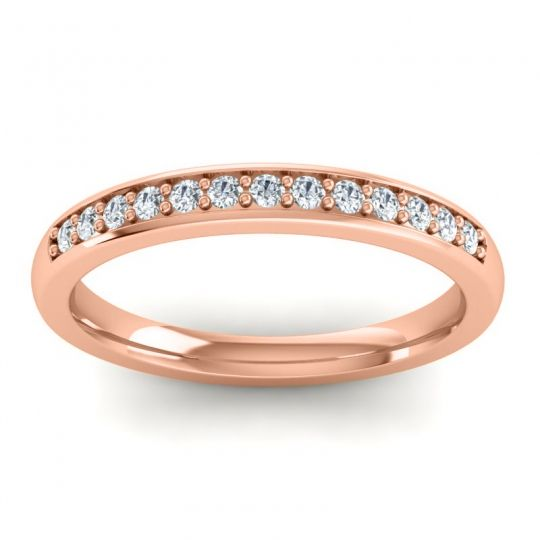 Diamond Half Eternity Komala Band in 14K Rose Gold