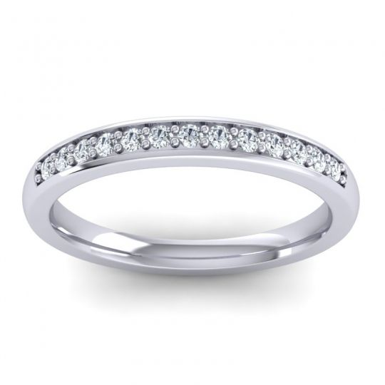 Diamond Half Eternity Komala Band in 14k White Gold