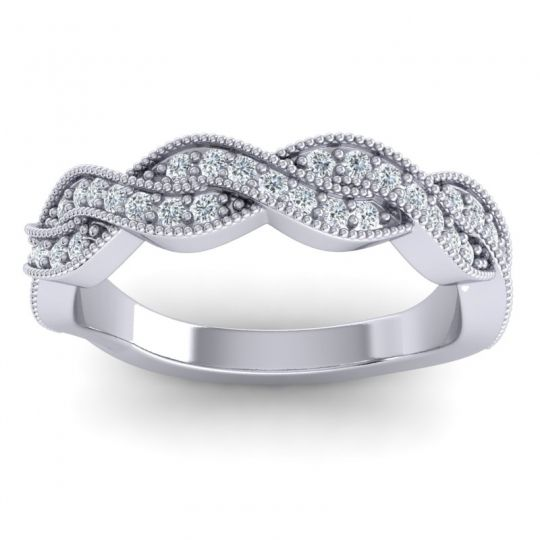 Half Eternity Sarpa Diamond Band in 14k White Gold