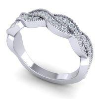 Diamond Half Eternity Sarpa Band in 14k White Gold