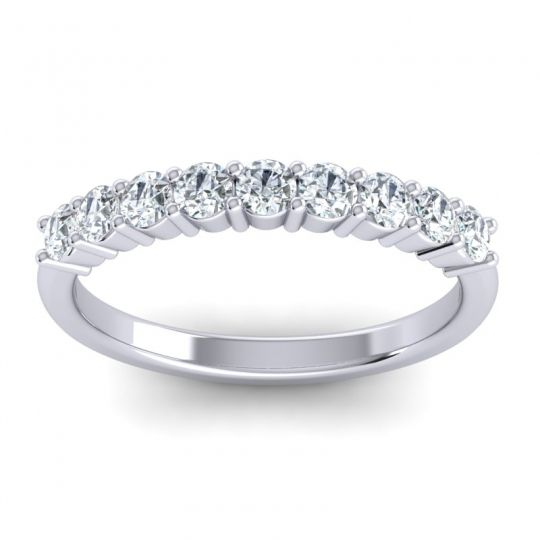 Classic Pave Ananta Diamond Band in 14k White Gold
