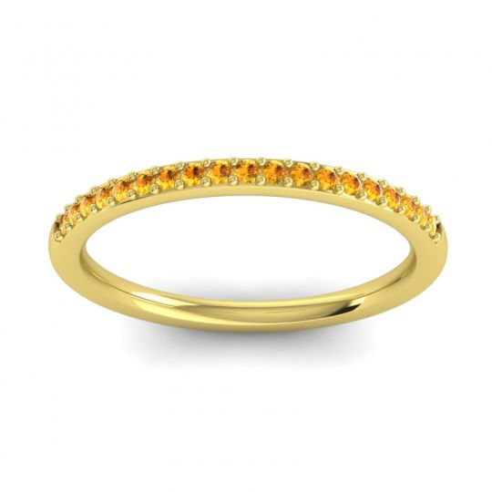 Citrine Half Eternity Pradhi Band in 18k Yellow Gold