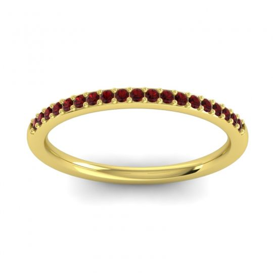 Garnet Half Eternity Pradhi Band in 14k Yellow Gold