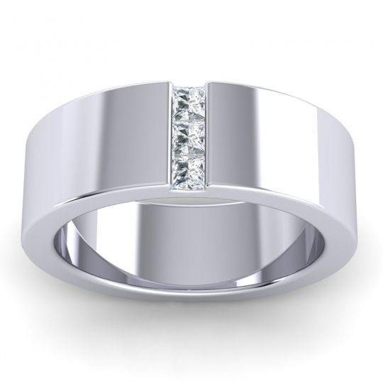 Diamond Polished Tatini Band in 14k White Gold