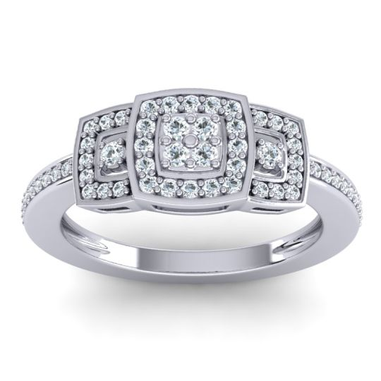 Statement Pave Mandura Diamond Ring in 14k White Gold