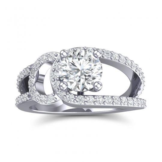 Modern Pave Kandi Diamond Ring in 14k White Gold