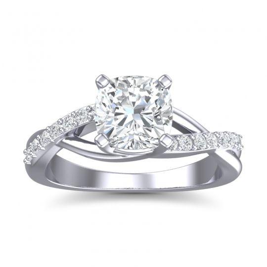 Modern Pave Rasala Diamond Ring in 14k White Gold