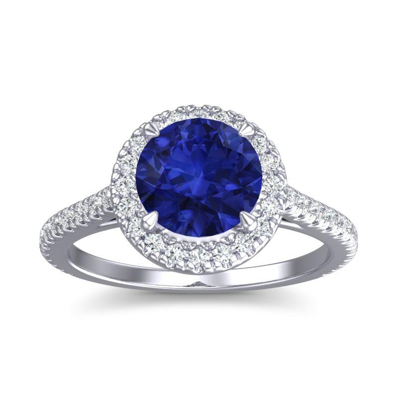 Zalka Custom Sahppire Engagement Ring