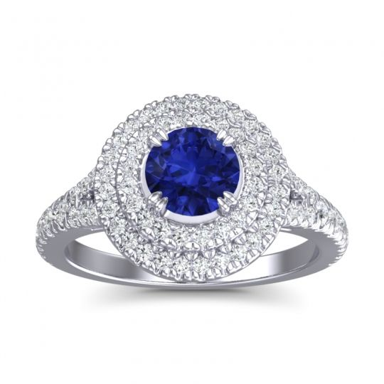 Ornate Halo Pave Nikama Ring