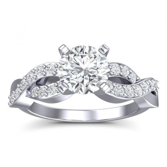Modern Pave Kamini Diamond Ring in 14k White Gold