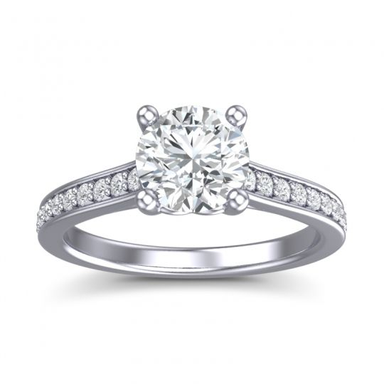Cathedral Diamond Pave Vakra Ring