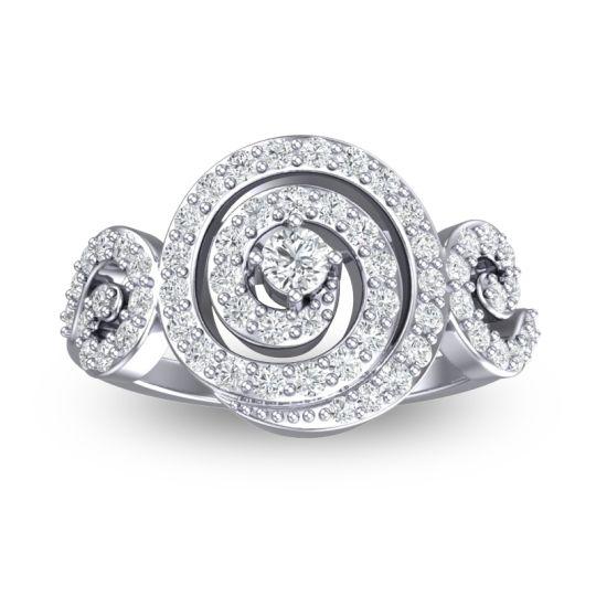 Statement Pave Kambu Diamond Ring in 14k White Gold