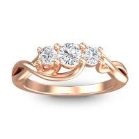 Petite Vitana Diamond Ring in 18K Rose Gold