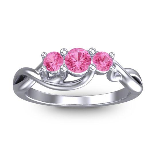 Pink Tourmaline Petite Vitana Ring in Platinum